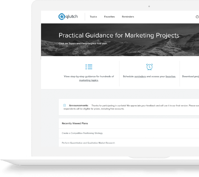qlutch marketing website
