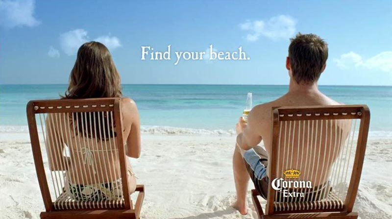 brand architecture corona find your beach