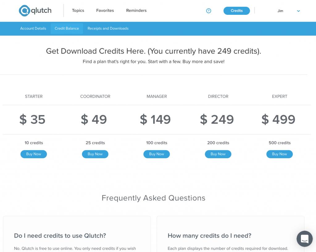 qlutch credits