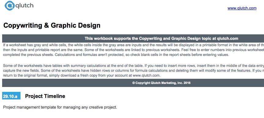 copywriting and graphic design